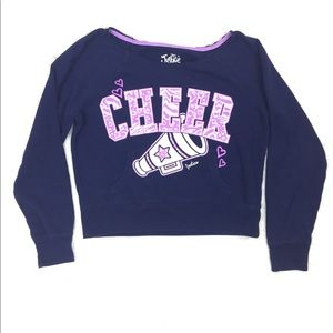 Justice cheer sweatshirt